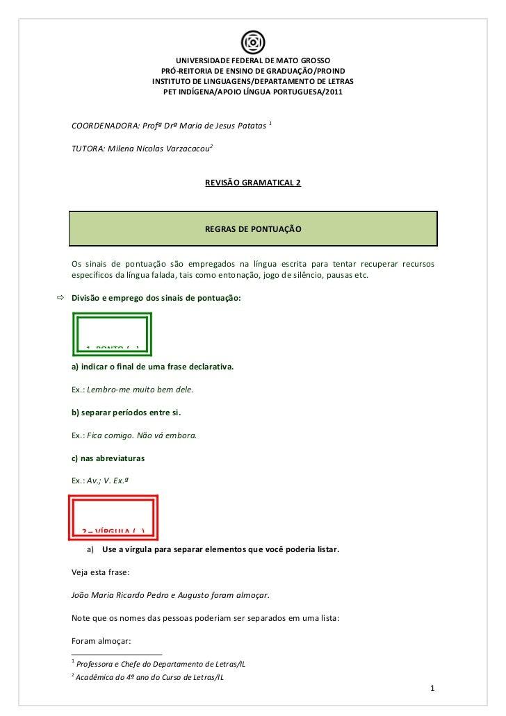 Revisão gramatical 2