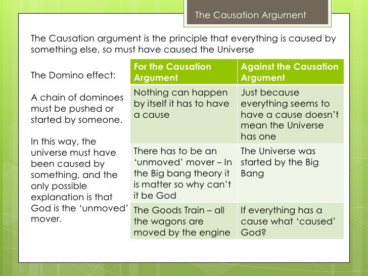 Apologetical Causation Argument