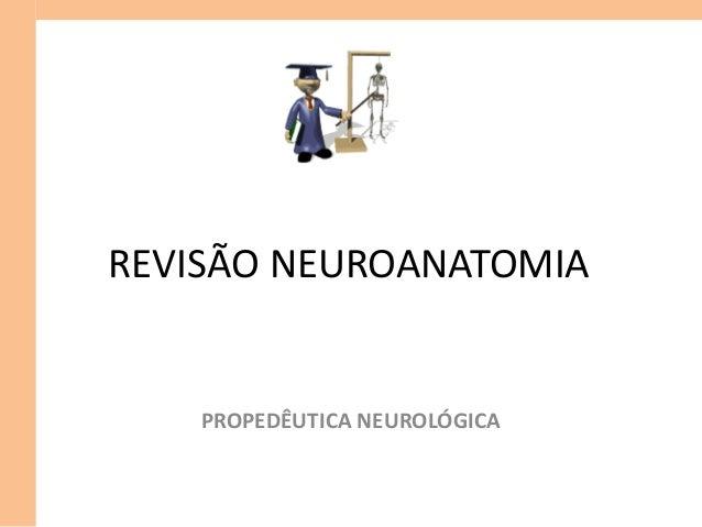 REVISÃO NEUROANATOMIA PROPEDÊUTICA NEUROLÓGICA