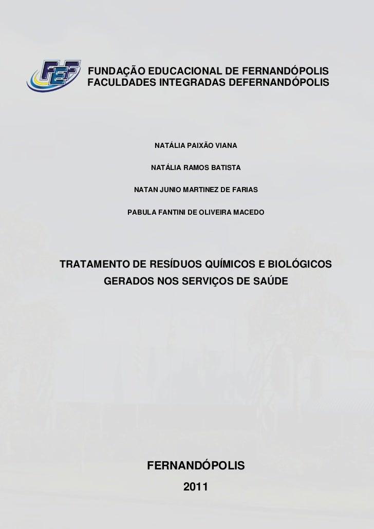 FUNDAÇÃO EDUCACIONAL DE FERNANDÓPOLIS    FACULDADES INTEGRADAS DEFERNANDÓPOLIS                NATÁLIA PAIXÃO VIANA        ...