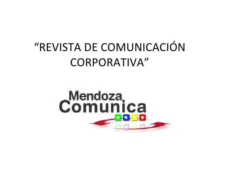 Revista de comunicacion corporativa