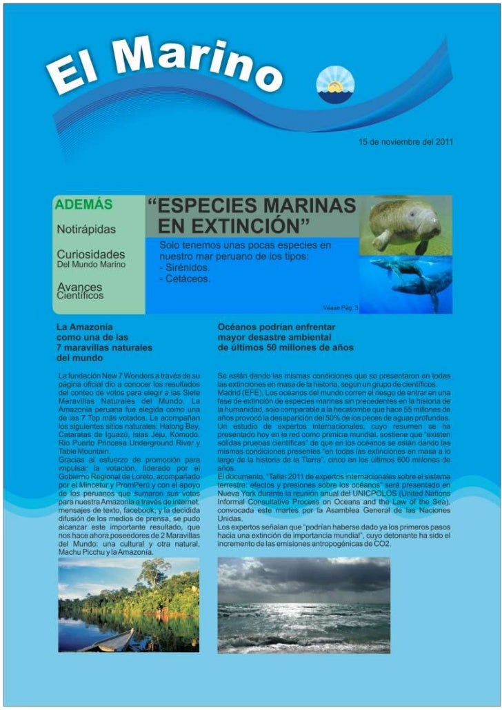 La revista del ecosistema marino