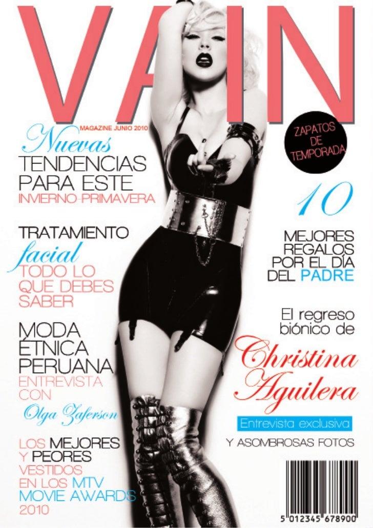 VAIN   Junio 2010 / Edición I                             INDICE         03      El frente   En el mes del padre         0...