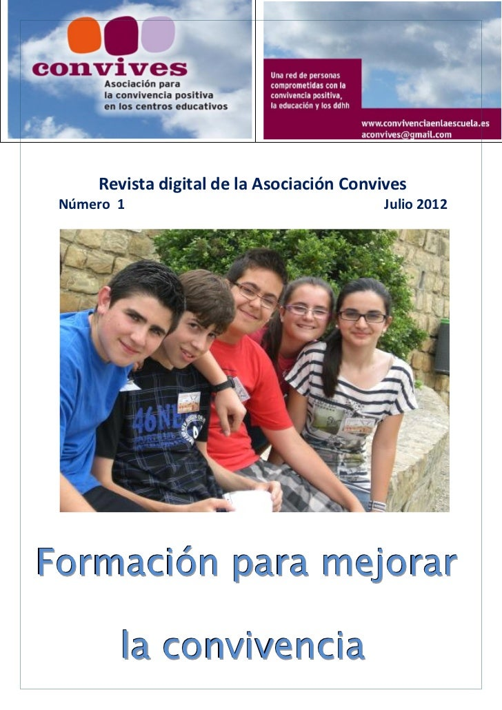 Revista digital de la Asociación Convives Número 1                                  Julio 2012Formación para mejorar      ...
