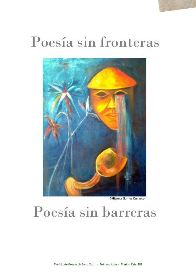 De Sur a Sur Revista de Poesía y Artes Literarias Año I-  Nº 001 Agosto 2017 Slide 2
