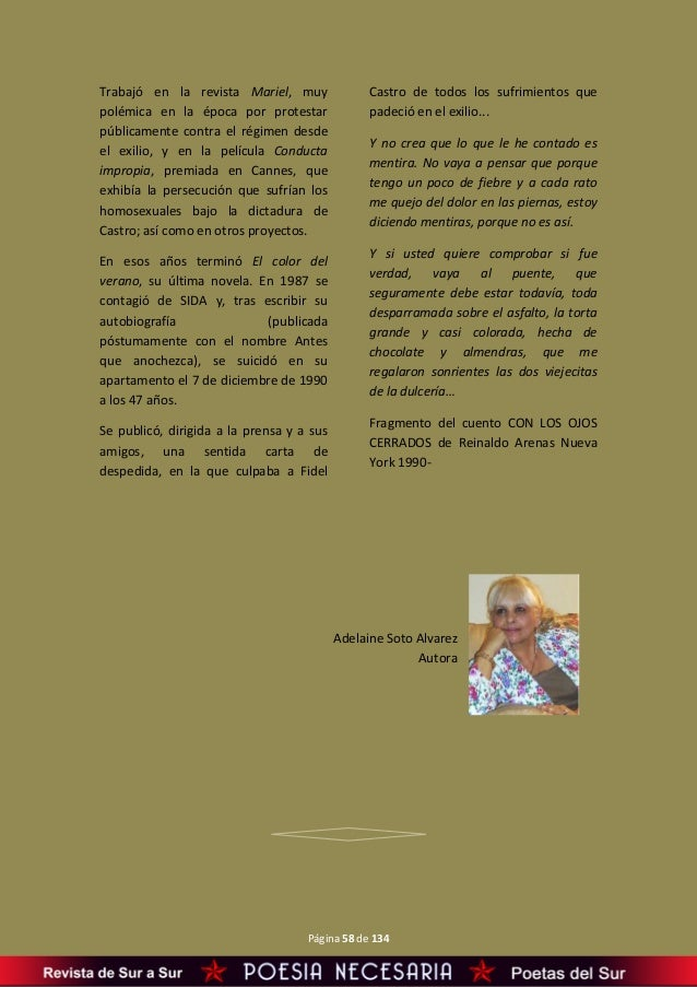 De Sur A Sur Revista De Poesía Y Artes Literarias Año Ii Nº