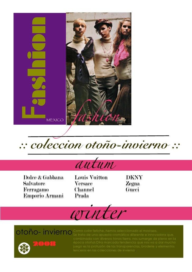 Fashion               MEXICO      fashion   :: coleccion otoño-invierno ::                           autum    Dolce & Gabb...