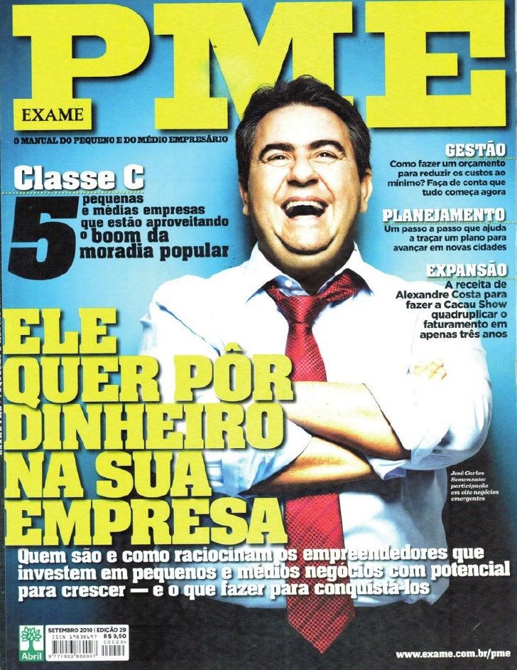 Revista Exame PME - 09/2010