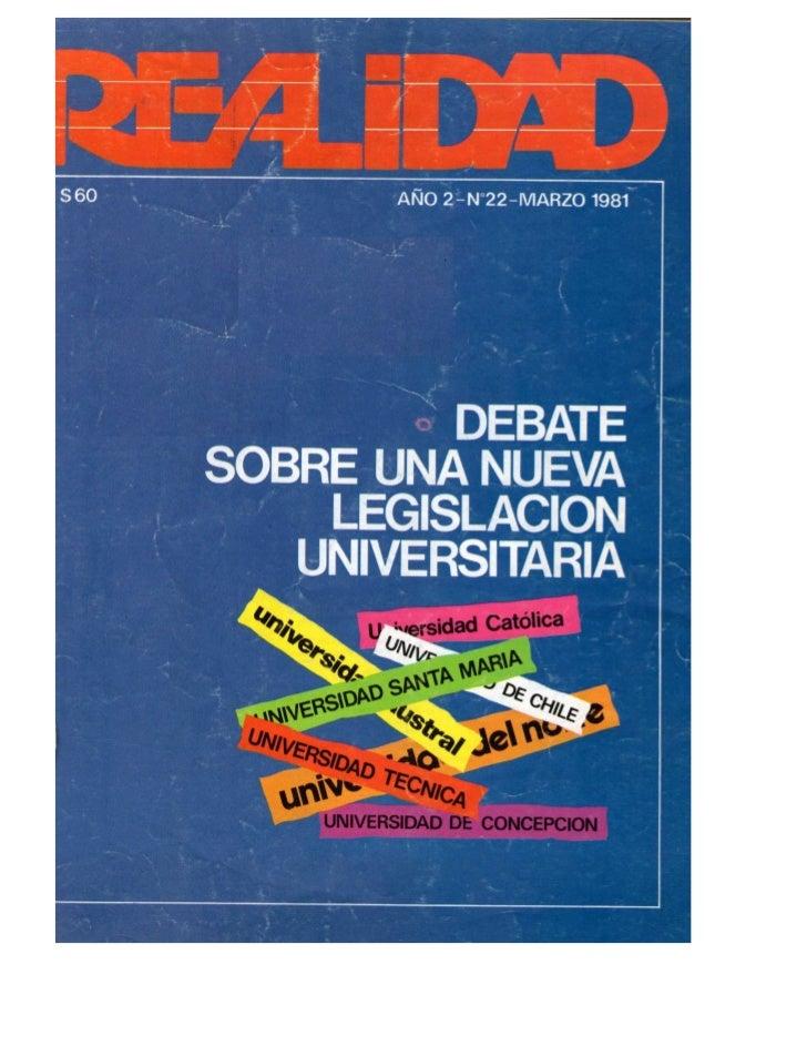 Revista Realidad (marzo 1981)