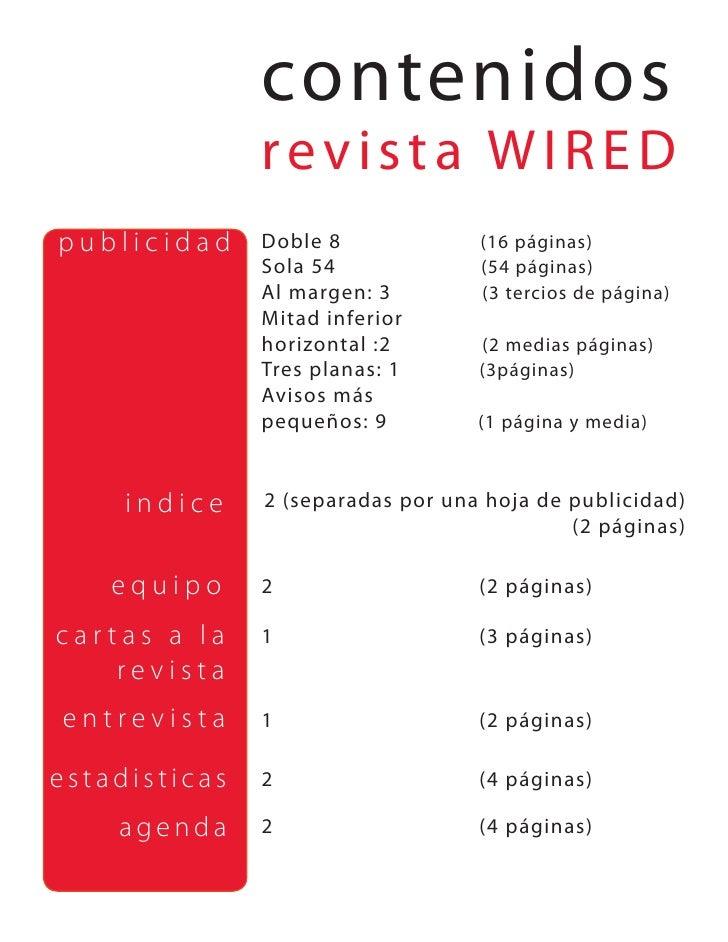 contenidos                revista WIRED publicidad     Doble 8             (16 páginas)                Sola 54            ...