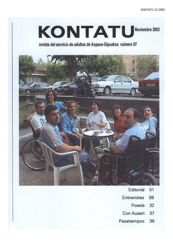 KONTATU 11/2003              Pág. 1
