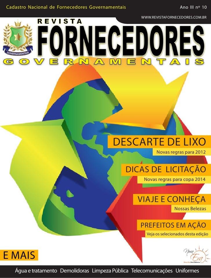 Cadastro Nacional de Fornecedores Governamentais                              Ano III nº 10                               ...