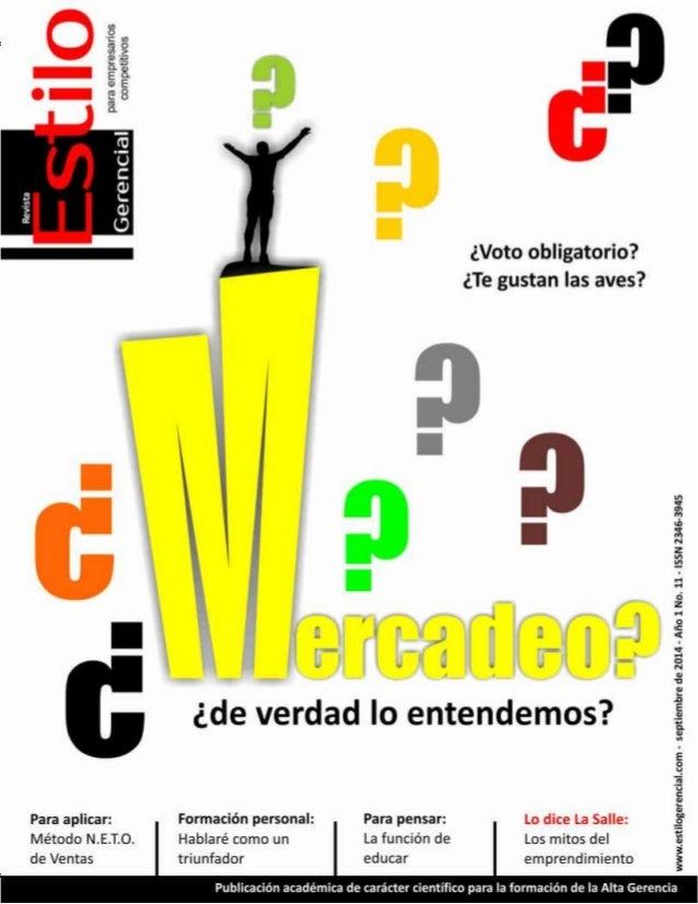 1  Estilo Gerencial – septiembre 2014  Para empresarios competitivos