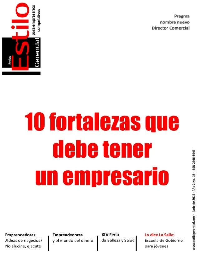 1 Estilo Gerencial –febrero 2015 Para empresarios competitivos