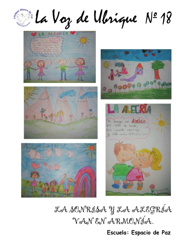 La Voz de Ubrique Escuela: Espacio de Paz Nº 18 LA SONRISA Y LA ALEGRÍA VAN EN ARMONÍA.