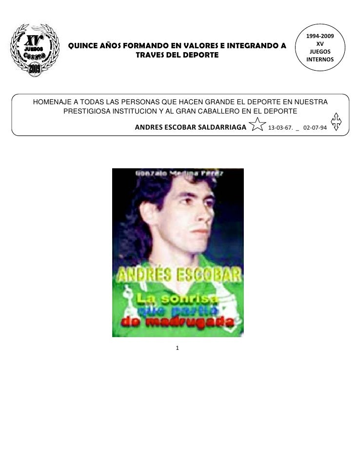 1994-2009         QUINCE AÑOS FORMANDO EN VALORES E INTEGRANDO A               XV                                         ...