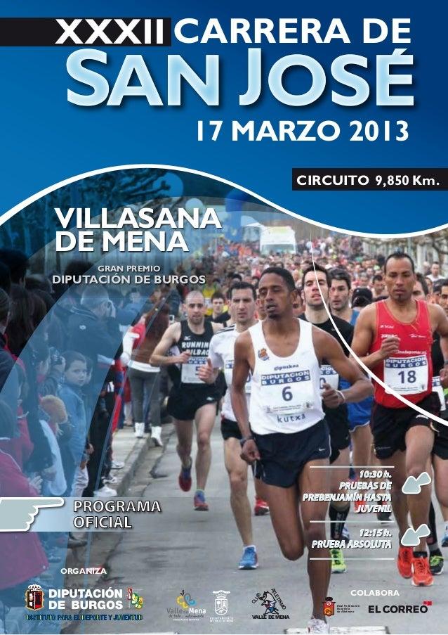 XXXII CARRERA DE                     17 MARZO 2013                                           CIRCUITO 9,850 Km.VILLASANADE...