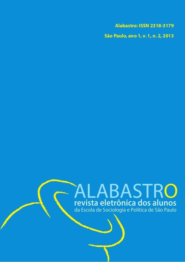 Alabastro: ISSN 2318-3179 São Paulo, ano 1, v. 1, n. 2, 2013