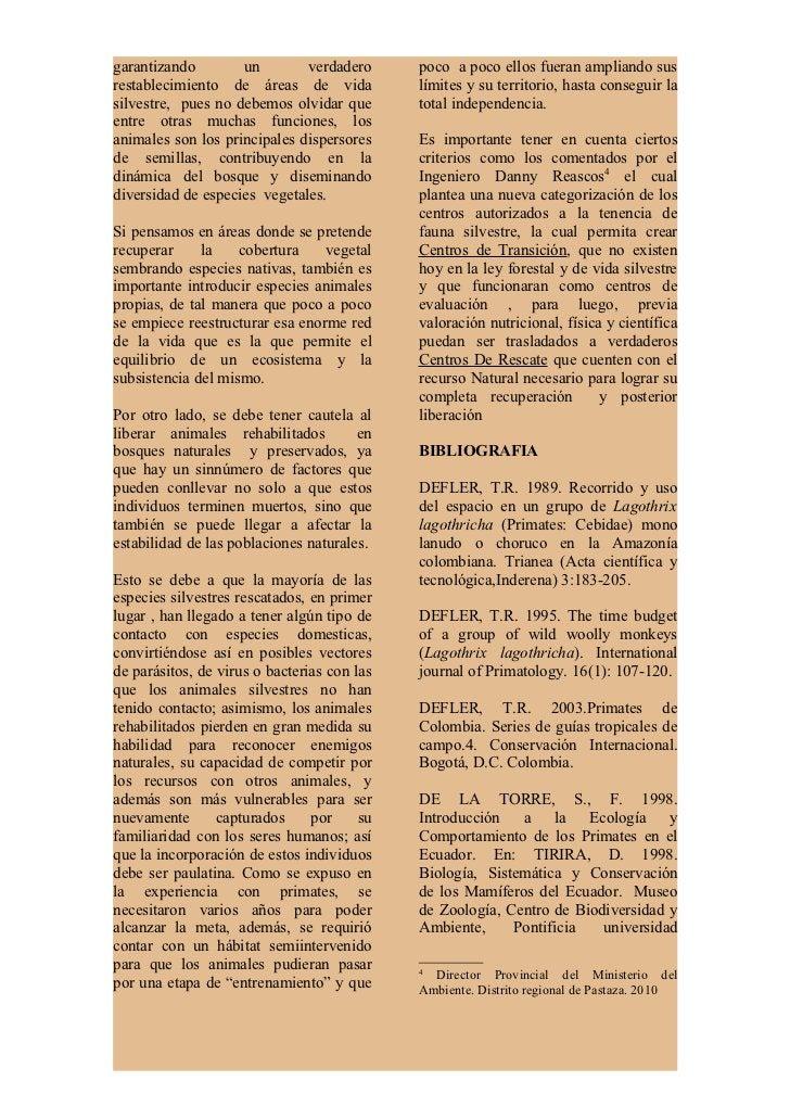 católica del Ecuador.         Publicación     Field Studies of New World Monkeys,especial 1: 31-56.                       ...