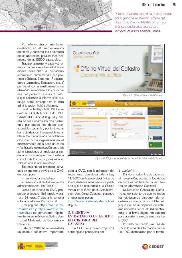 Revista de expertos en catastro for Oficina virtual del catastro