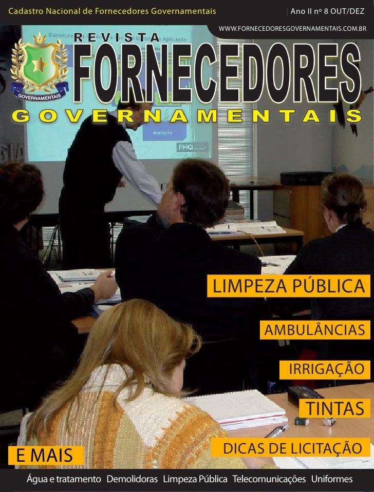 Cadastro Nacional de Fornecedores Governamentais                   | Ano II nº 8 OUT/DEZ                                  ...