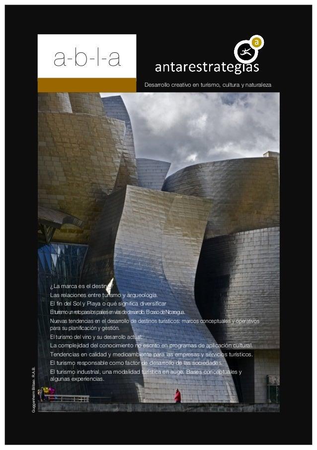 a-b-l-a                                                                                   Desarrollo creativo en turismo, ...