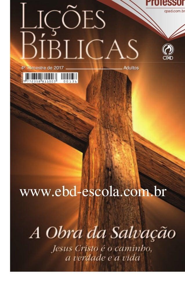 revista da escola bblica dominical cpad