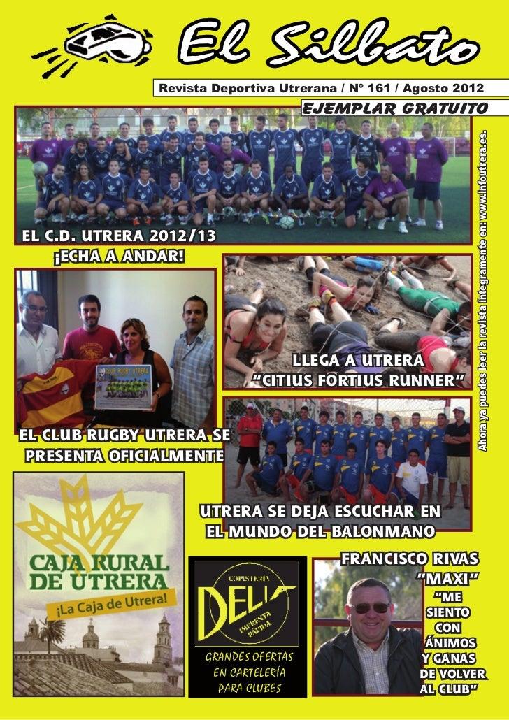 El Silbato               Revista Deportiva Utrerana / Nº 161 / Agosto 2012                                        ejemplar...