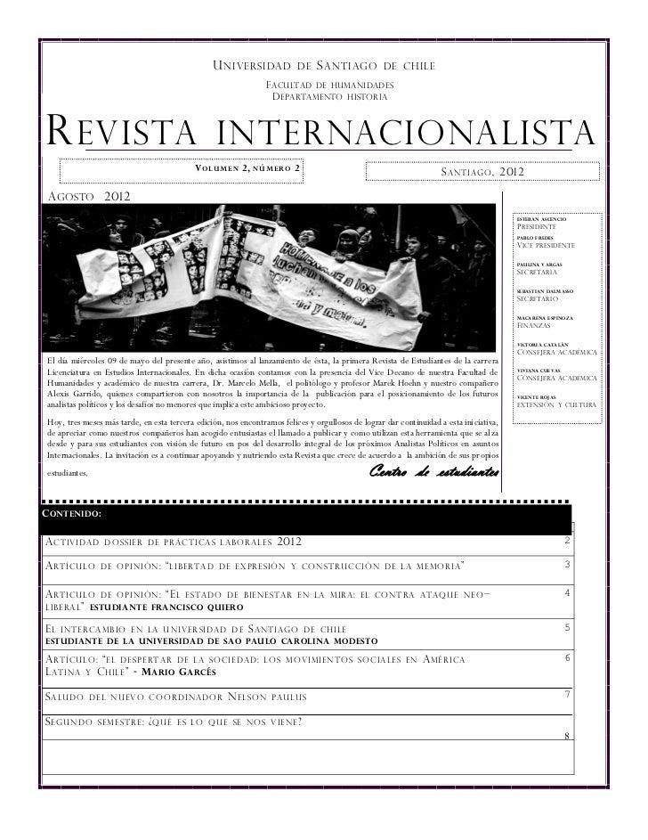 U NIVERSIDAD             DE    S ANTIAGO          DE CHILE                                                                ...