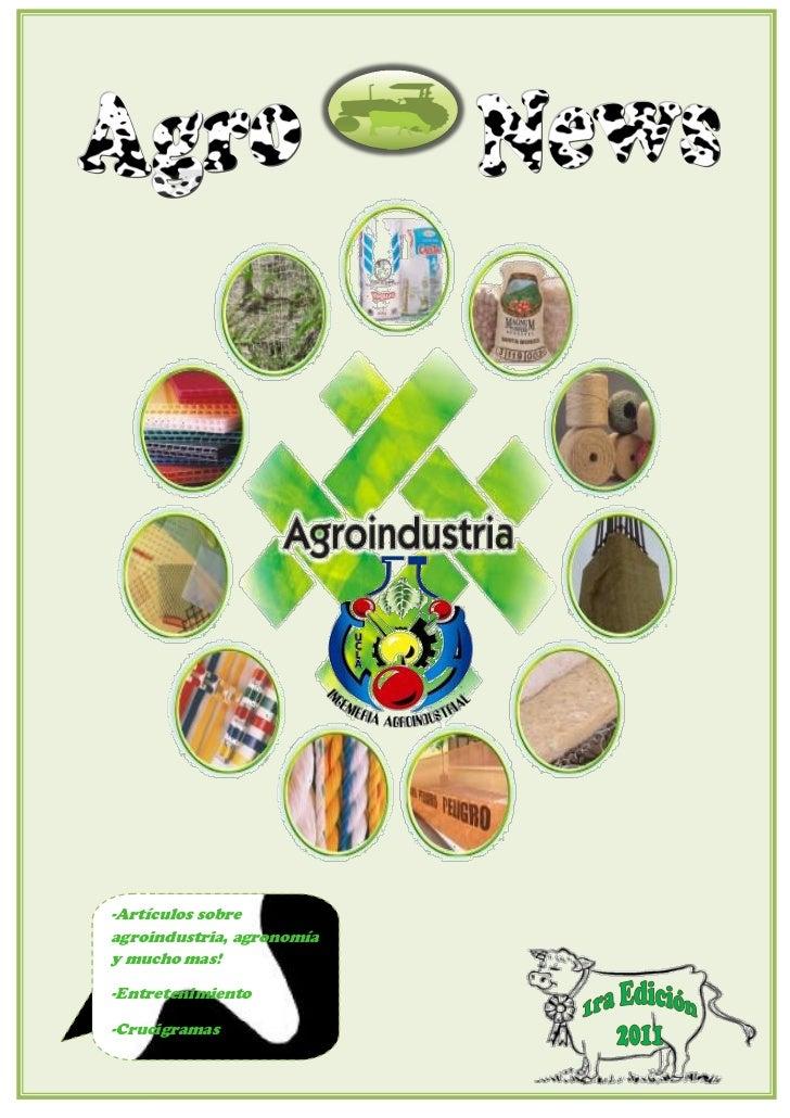 -Artículos sobreagroindustria, agronomíay mucho mas!-Entretenimiento-Crucigramas
