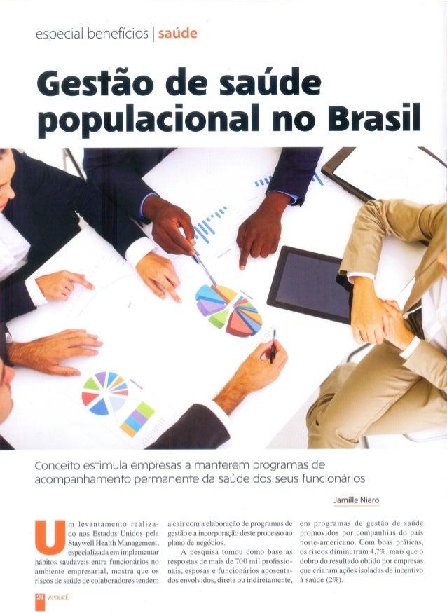 Gestão de saúde populacional no Brasil
