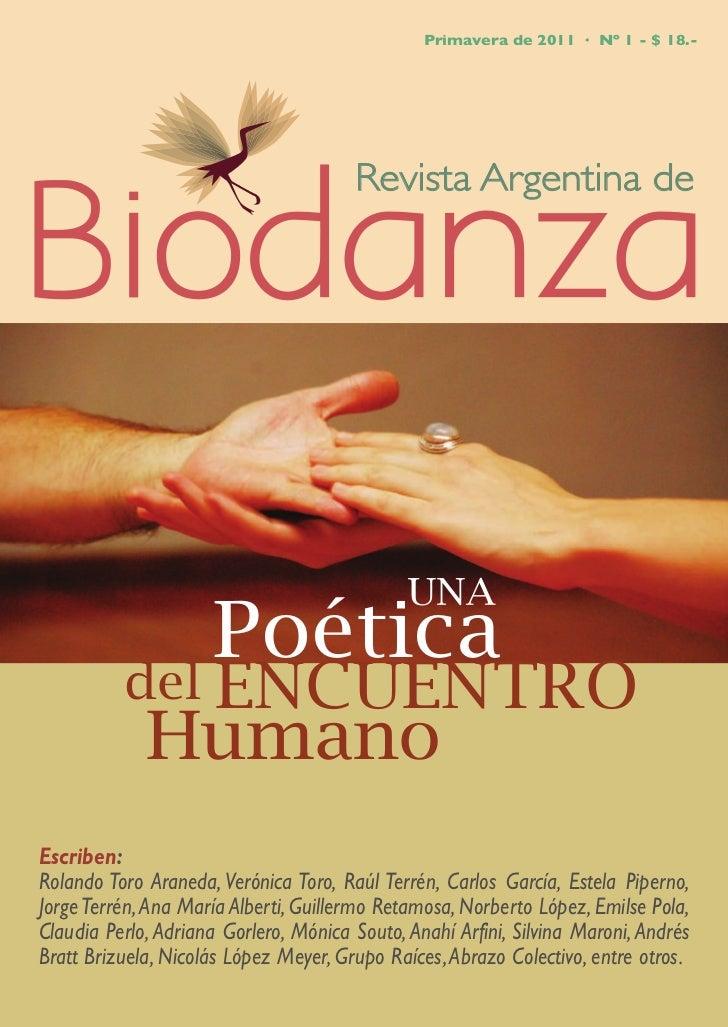 Primavera de 2011 · Nº 1 - $ 18.-                                       Revista Argentina de                      Poética ...
