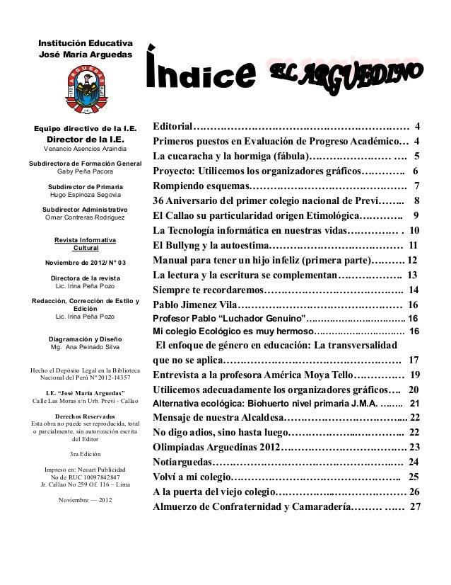 Revista arguedina 2012 for Editorial de un periodico mural