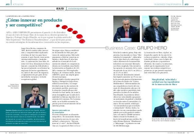 2 diciembre 2013revista apd apd 3diciembre 2013 revista apd apdON BUSINESS TRANSFORMATIONactualidad la importancia de la m...