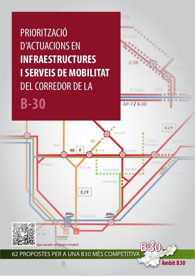 PRIORITZACIÓ  D'ACTUACIONS EN  INFRAESTRUCTURES  I SERVEIS DE MOBILITAT  DEL CORREDOR DE LA  B-30  Àmbit B30  [per accedir...