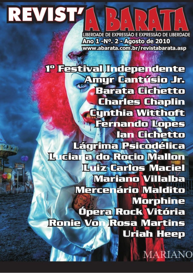 1º Festival IndependenteAmyr Cantúsio Jr.Barata CichettoCharles ChaplinCynthia WitthoftFernando LopesIan CichettoLágrima P...