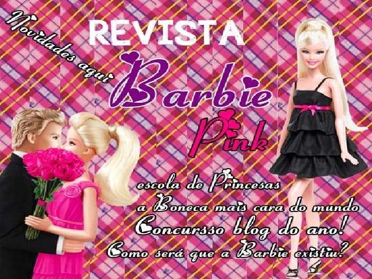 Revista barbie pink do blog