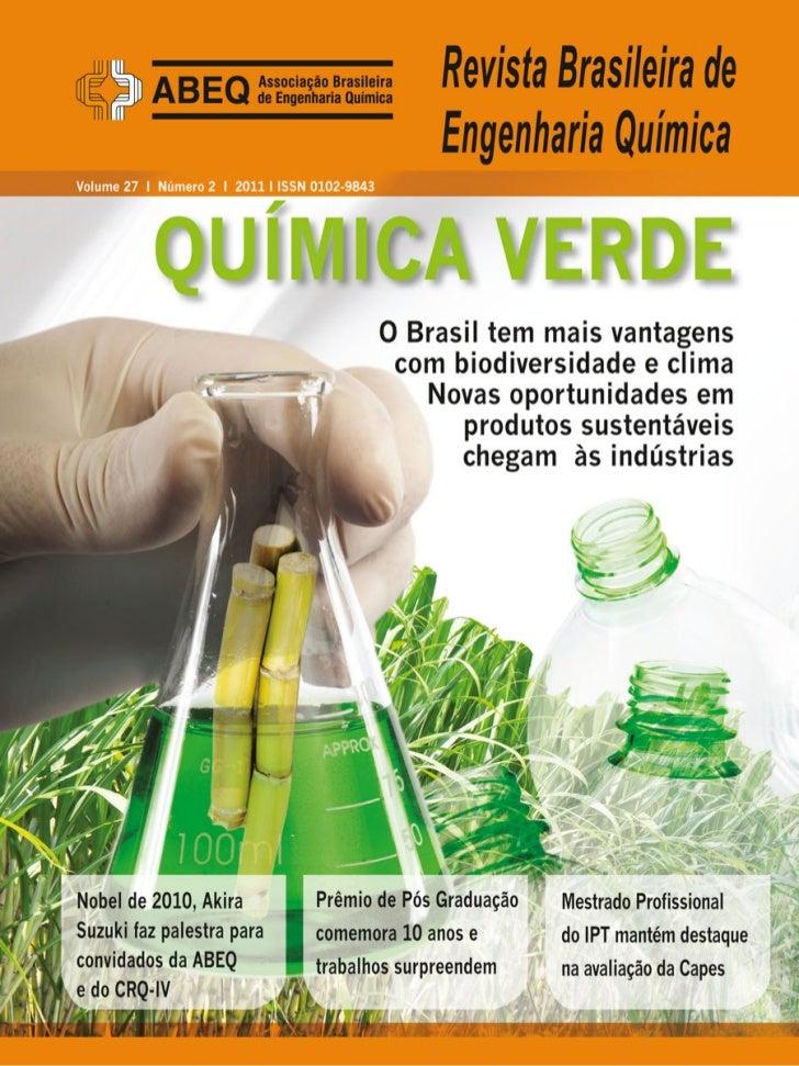 REBEQ - Revista Brasileira de Engenharia Quimica - Ano 27 edicao 2