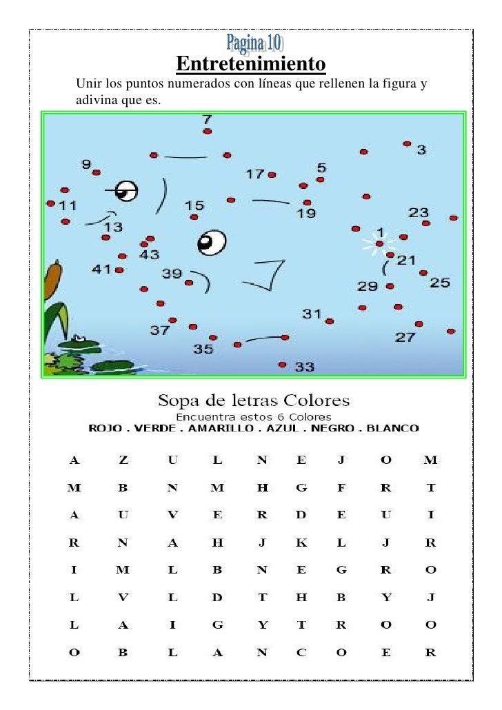 EntretenimientoUnir los puntos numerados con líneas que rellenen la figura yadivina que es.