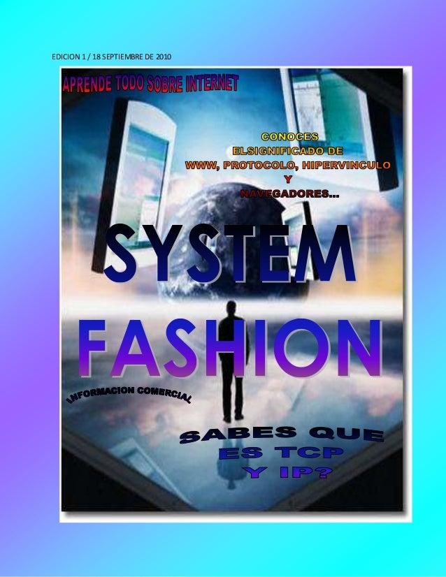 EDICION 1 / 18 SEPTIEMBRE DE 2010