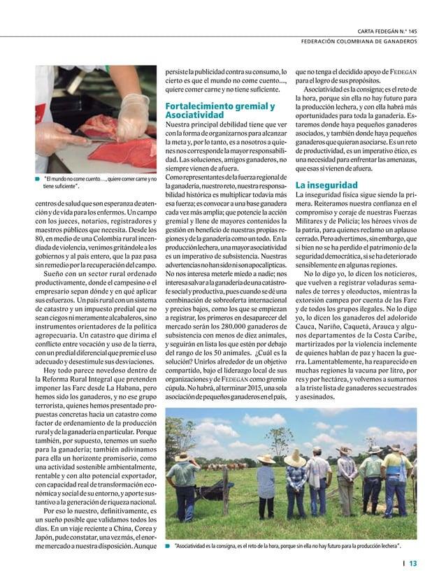 Informe Especial 14 34° Congreso Nacional de Ganaderos Reforma agraria expropiatoria Lainseguridadjurídicaesotraamenazaque...