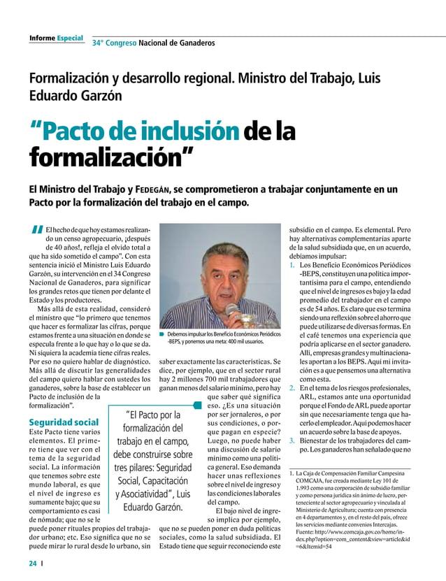 Informe Especial 26 34° Congreso Nacional de Ganaderos Competitividad Internacional Produccióndecarneylecheenla UniónEurop...