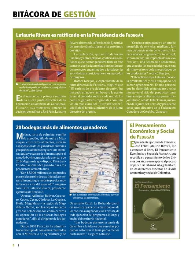 FEDERACIÓN COLOMBIANA DE GANADEROS carta fedegÁn N.° 145 5  Donación de 20.000 bolsas de leche en la zona rural de Santa ...