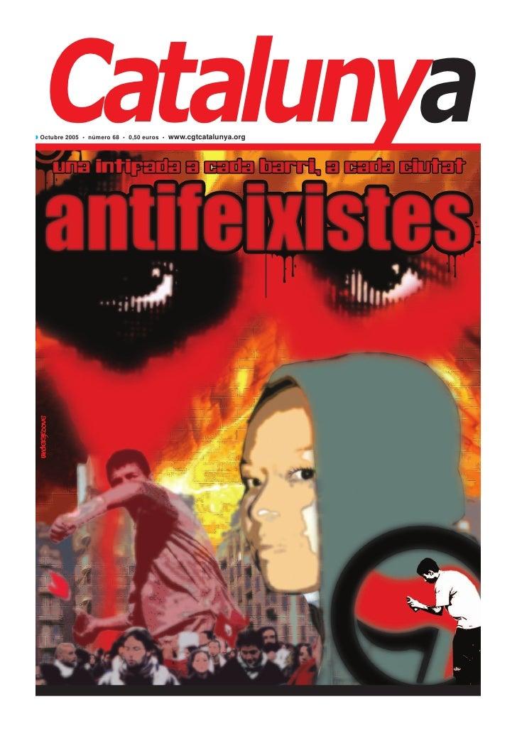 Catalunya◗ Octubre 2005 • número 68 • 0,50 euros • www.cgtcatalunya.org