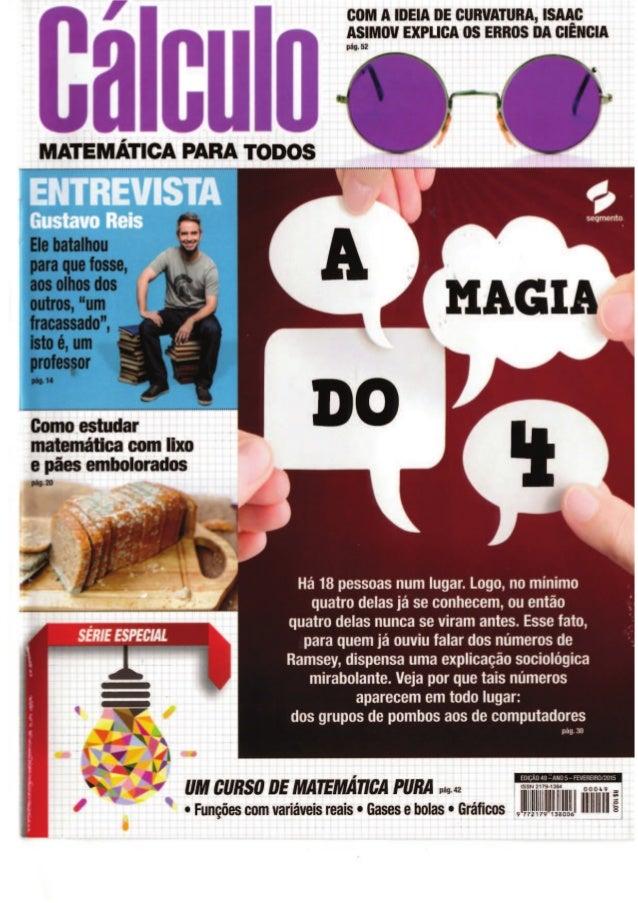 MATEMÁTICA PARA TODOS  COM A IDEIA DE CIIIWATIIRA,  ISAAC ASIMOV EXPLICA OS ERBOS DA CIENCIA  pág.  52                    ...