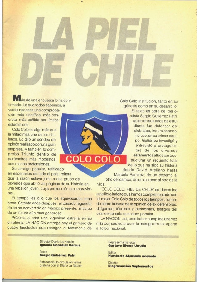"""Revista """"Colo Colo piel de Chile Nº1"""" Slide 3"""