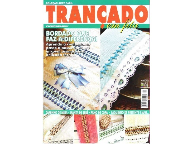 Revista de bordado com fita 11