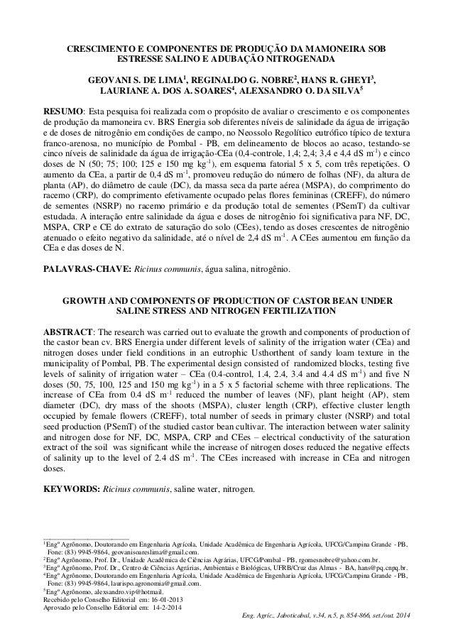 _________________________ 1 Engº Agrônomo, Doutorando em Engenharia Agrícola, Unidade Acadêmica de Engenharia Agrícola, UF...