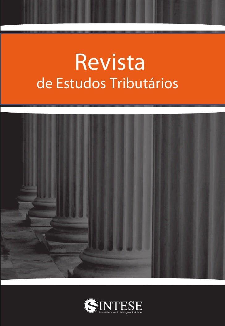 Revistade Estudos Tributários