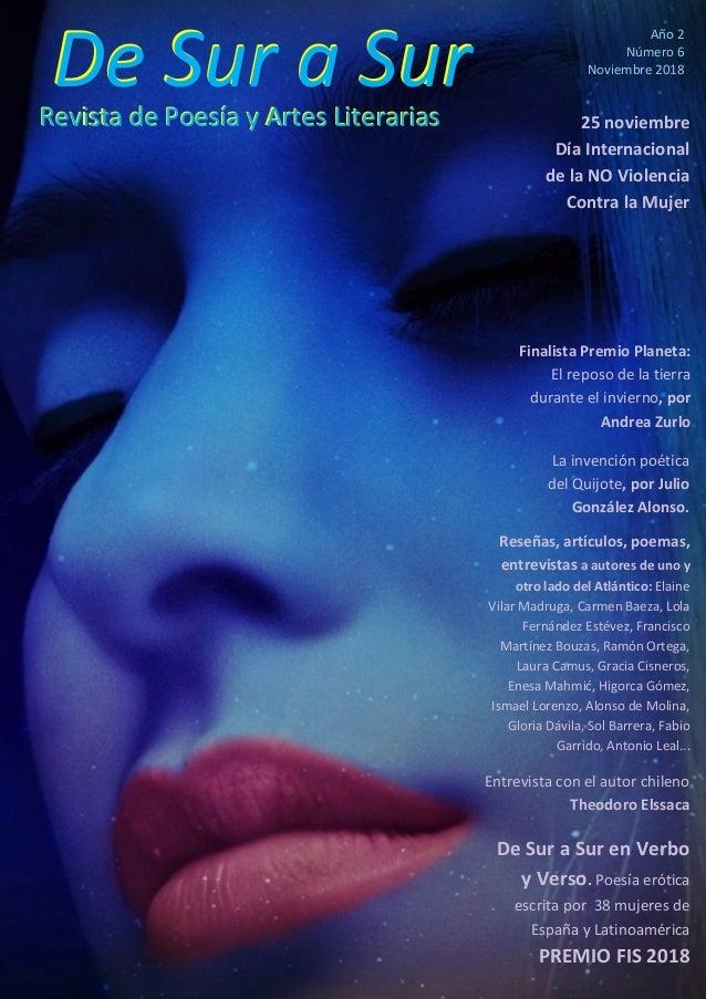 De Sur a SurRevista de Poesía y Artes LiterariasRevista de Poesía y Artes Literarias De Sur a Sur Año 2 Número 6 Noviembre...